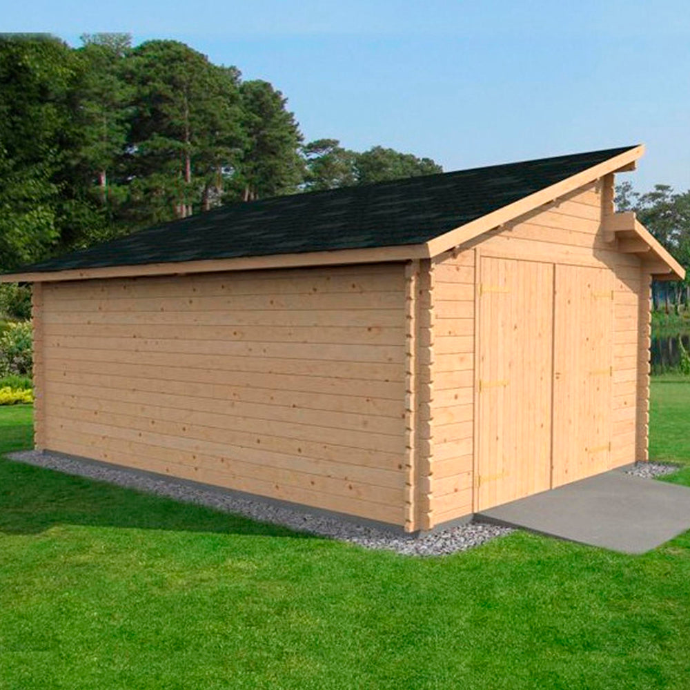4m x 5.6m Deco Garage Workshop - Barewood Buildings