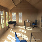 3.8m x 5.3m Pool House Log Cabin - Barewood Buildings