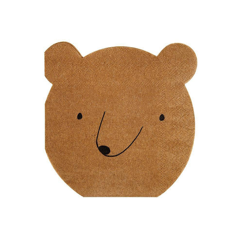 Little Explorer Bear Party Napkins