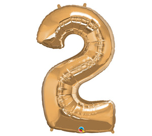"34"" Gold Number 2 Foil Balloon"