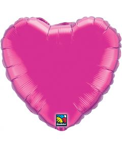 "36"" Magenta Foil Heart Balloon"