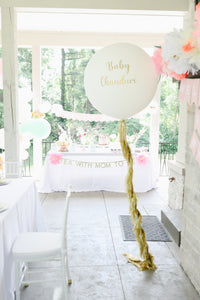 Jumbo Personalized Balloon + Tassel Tail