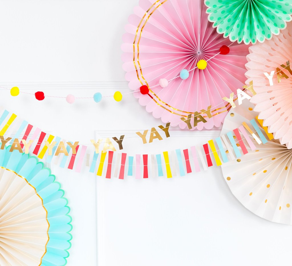 Hip Hip Hooray Mini Banner Set
