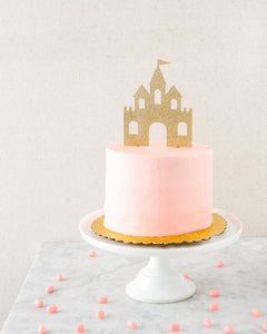 Pretty Princess Castle Cake Topper