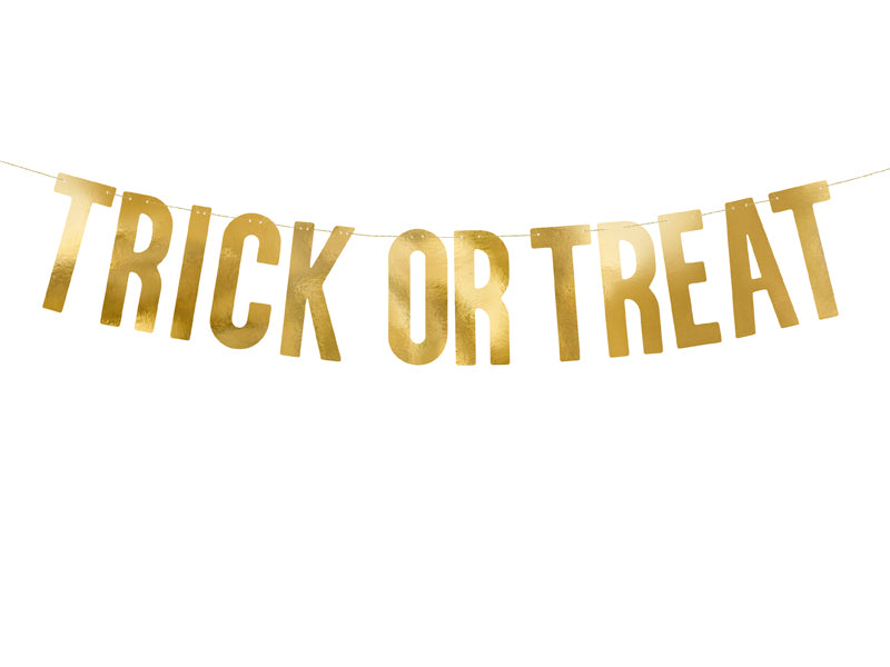 Gold Foil Trick or Treat Banner