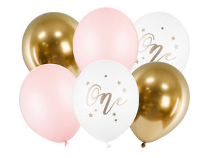 Pink One Balloon Set