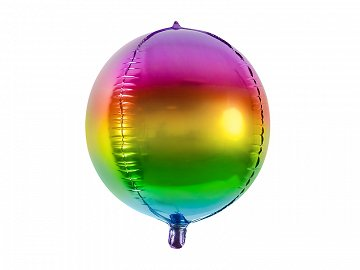 Rainbow Orb Foil Balloon