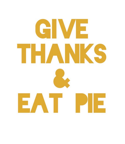Give Thanks & Eat Pie Banner