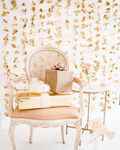 Gold Petal Backdrop Wall
