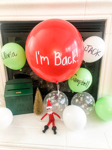 "Elf on the Shelf ""I'm Back"" DIY Balloon Kit"