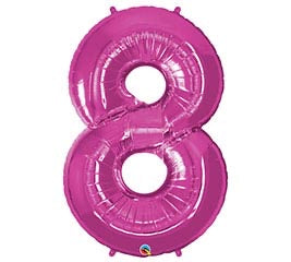 "34"" Pink Number 8 Foil Balloon"