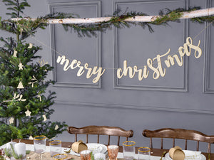 Wooden Merry Christmas Banner