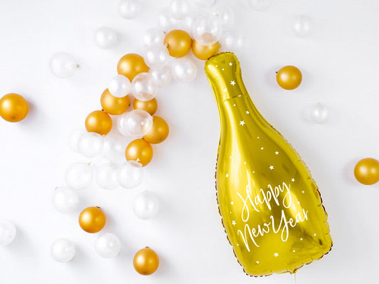 Happy New Year Foil Champagne Balloon