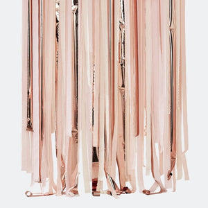 Blush & Peach Party Streamers Backdrop