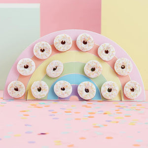 Pastel Party Rainbow Donut Wall Holder