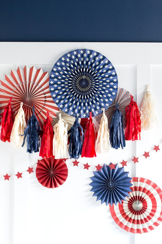 Stars and Stripes Tassel Banner