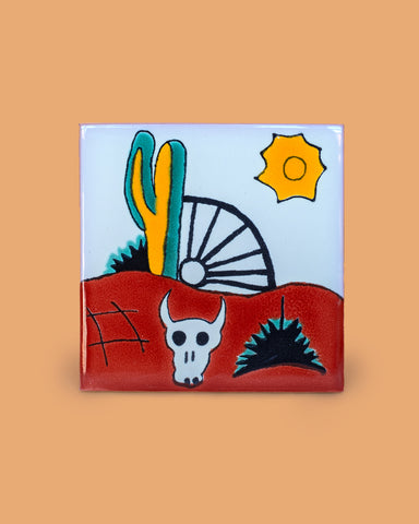 Handcrafted Cactus Tile