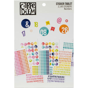 Carpe Diem A5 Planner Sticker Tablet