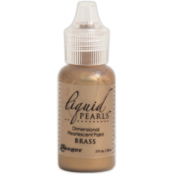 Liquid Pearls Dimensional Pearlescent Paint .5oz BRASS