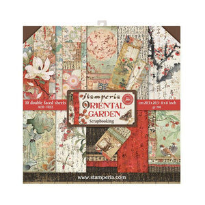 "Stamperia Oriental Garden Double-Sided Paper Pad 12""X12"" 10/Pkg"