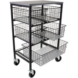 Tim Holtz Rolling Utility Basket Storage Cart W/5 Drawers