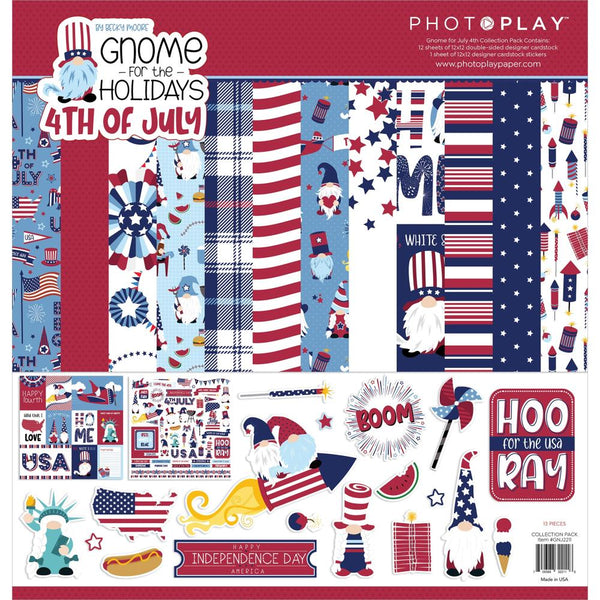 Gnome For July 4th Collection Pack by PhotoPlay