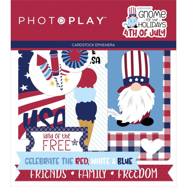 Gnome For July 4th Ephemera by Photoplay Paper