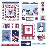 Gnome For July 4th Ephemera Cardstock Die-Cuts by Photoplay Paper