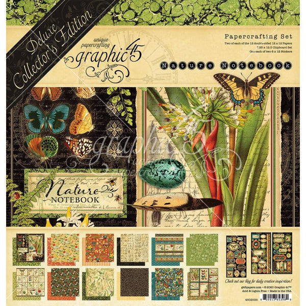 Graphic 45 Nature's Notebook Deluxe Collector's Edition Pack