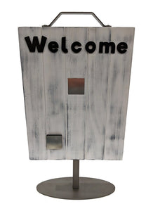 Welcome Slat Sign