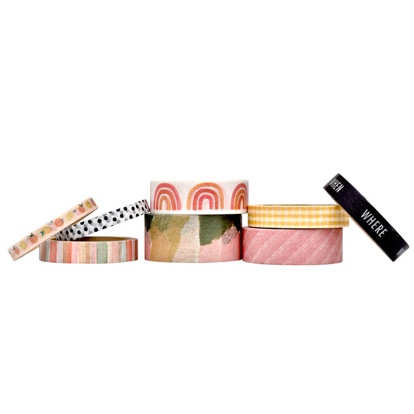 Storyline Chapters Washi Tape Rolls 8/Pkg by Heidi Swapp