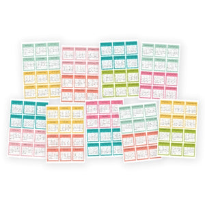 Mini Monthly Calendar Stickers