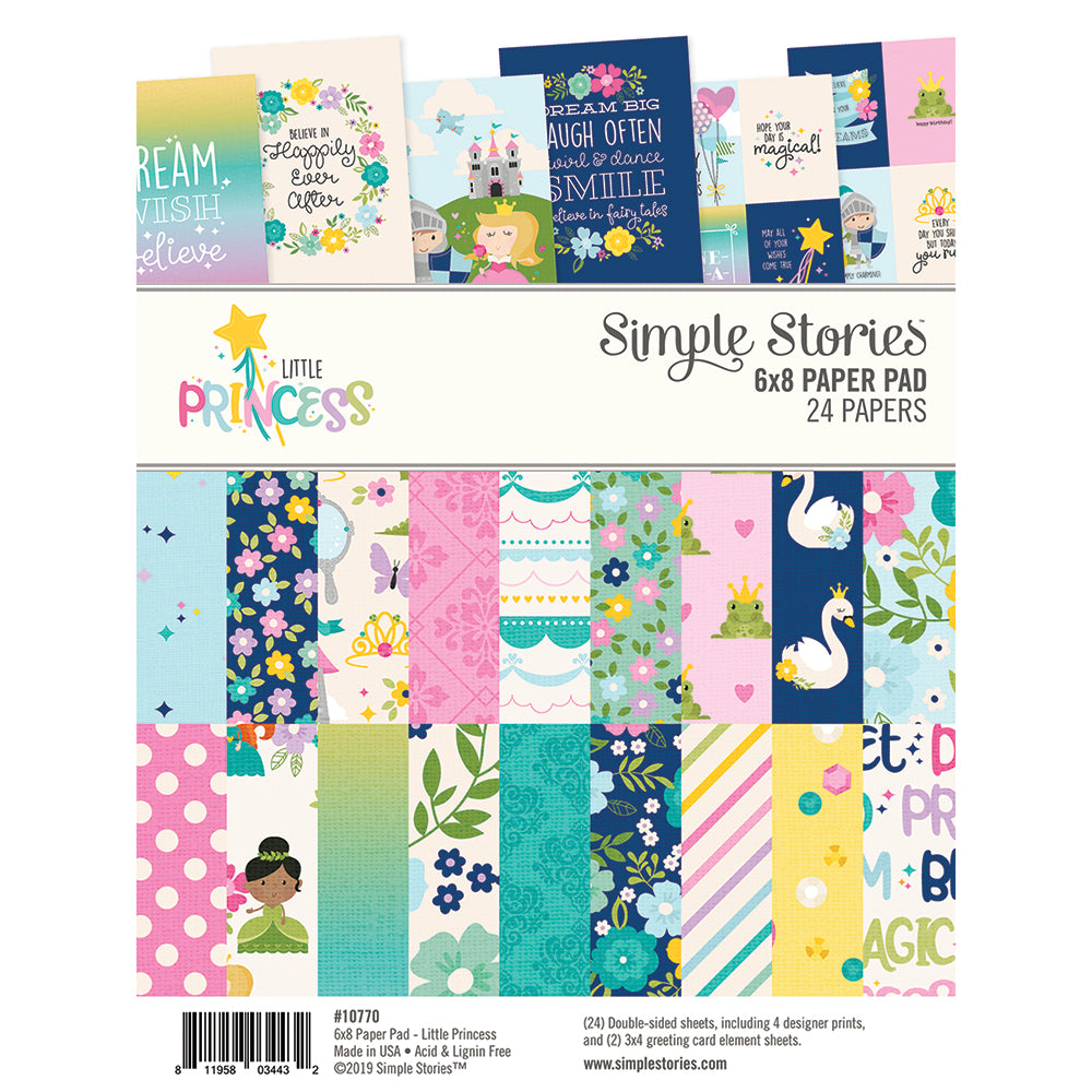 LITTLE PRINCESS 6X8 PAD by SIMPLES STORIES