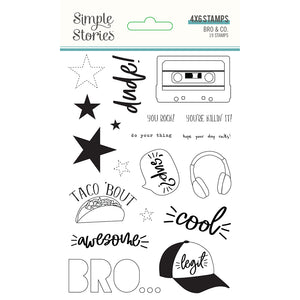 Bro & Co. Stamps by Simple Stories