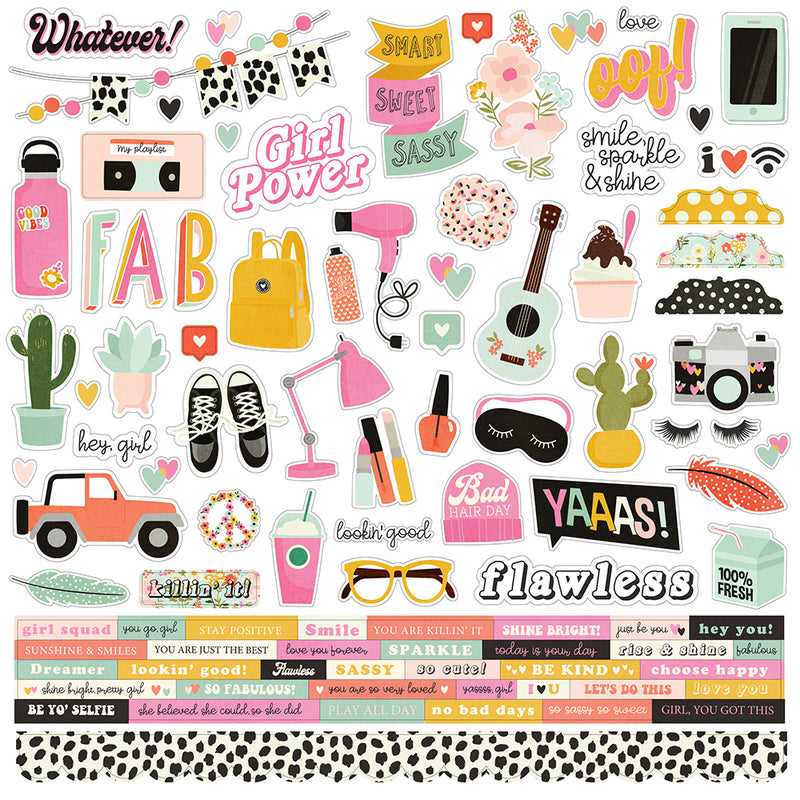 Kate & Ash Combo Sticker by Simple Stories