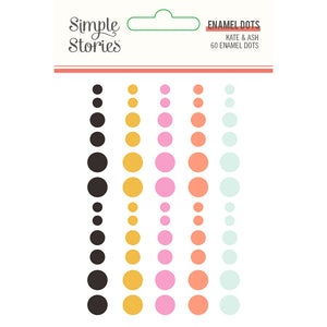 Kate & Ash Enamel Dots by Simple Stories