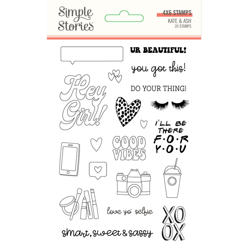 Kate & Ash Stamps by Simple Stories