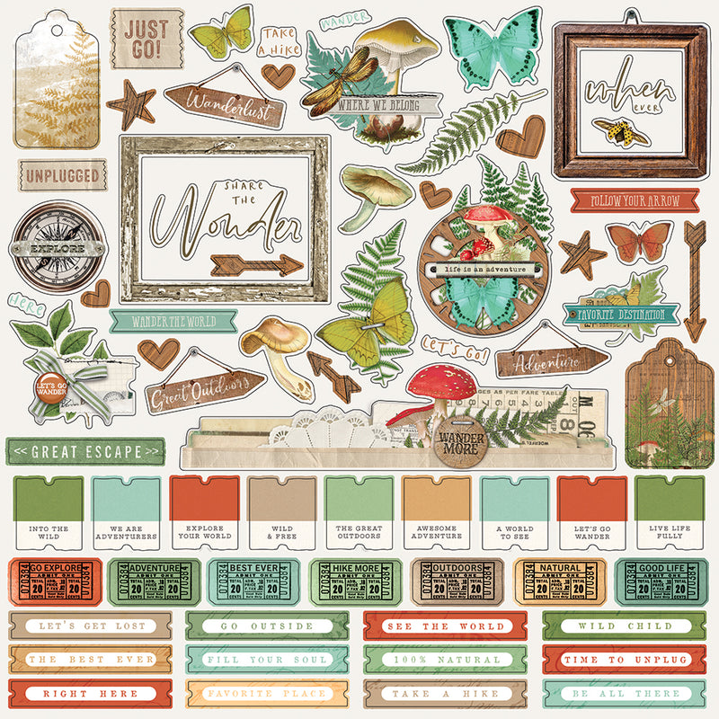 Simple Vintage Great Escape Combo Cardstock Sticker by Simple Stories