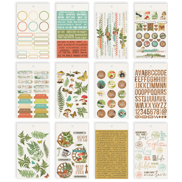 Simple Vintage Great Escape 4x6 Sticker Book by Simple Stories