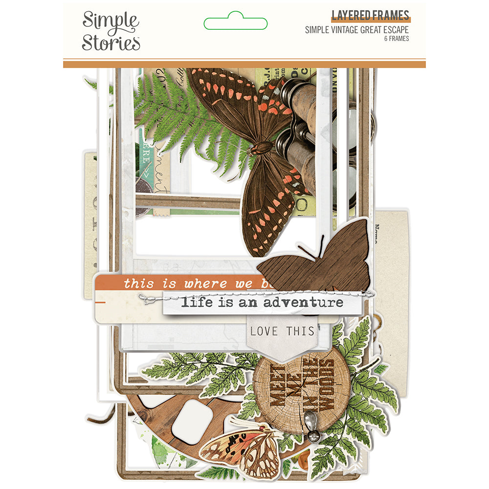 Simple Vintage Great Escape Layered Chipboard Frames by Simple Stories