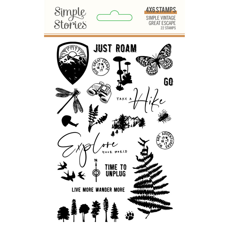 Simple Vintage Great Escape Stamps by Simple Stories