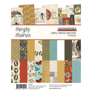 Simple Vintage Ancestry 6x8 Paper Pad **SHIPPING OCTOBER**