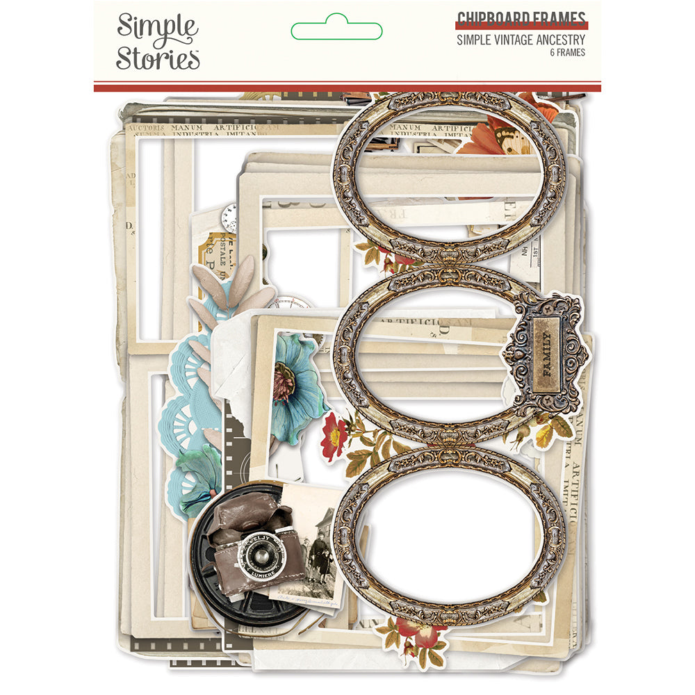 Simple Vintage Ancestry Chipboard Frames **SHIPPING OCTOBER**
