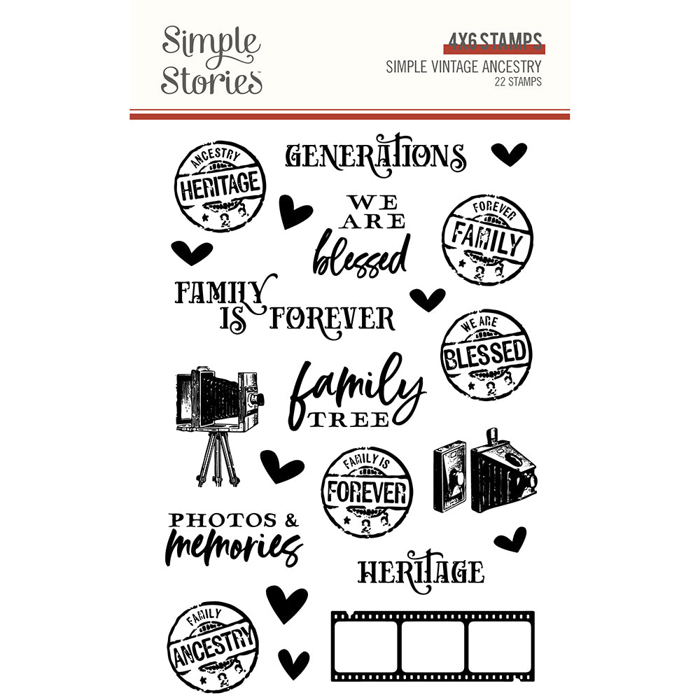 Simple Vintage Ancestry Stamps **SHIPPING OCTOBER**