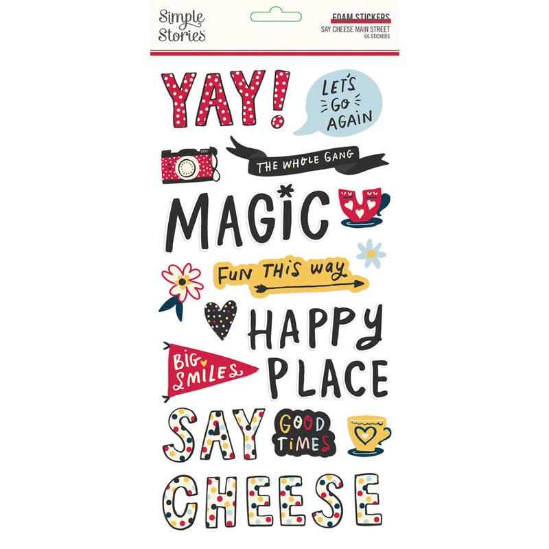 Say Cheese Mainstreet Foam Stickers