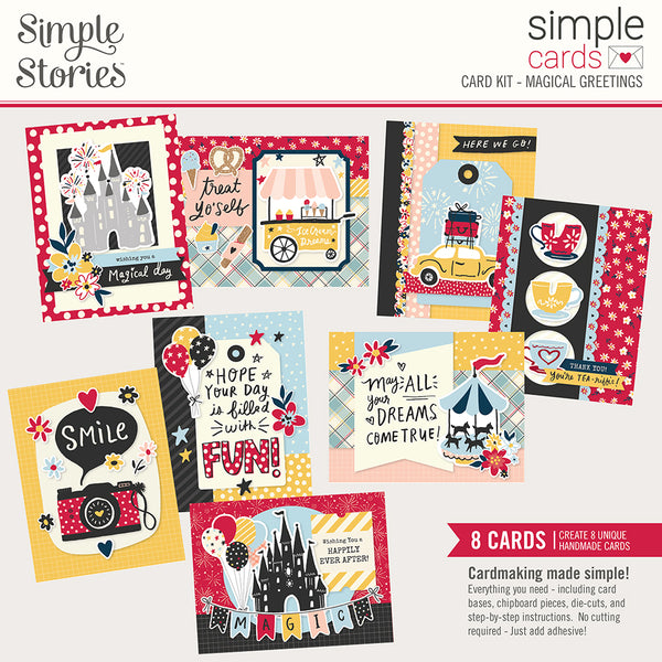 Say Cheese Mainstreet Simple Cards Card Kit Magical Greetings