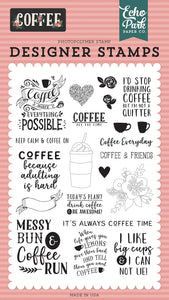 Coffee Designer Stamps