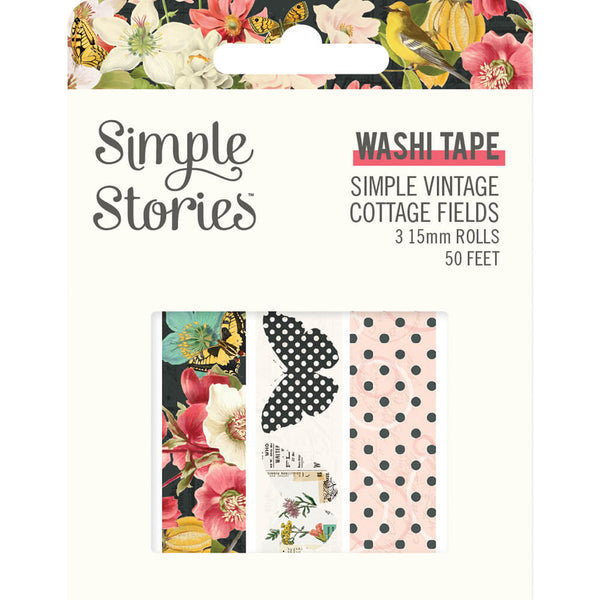 Simple Vintage Cottage Fields Washi Tape