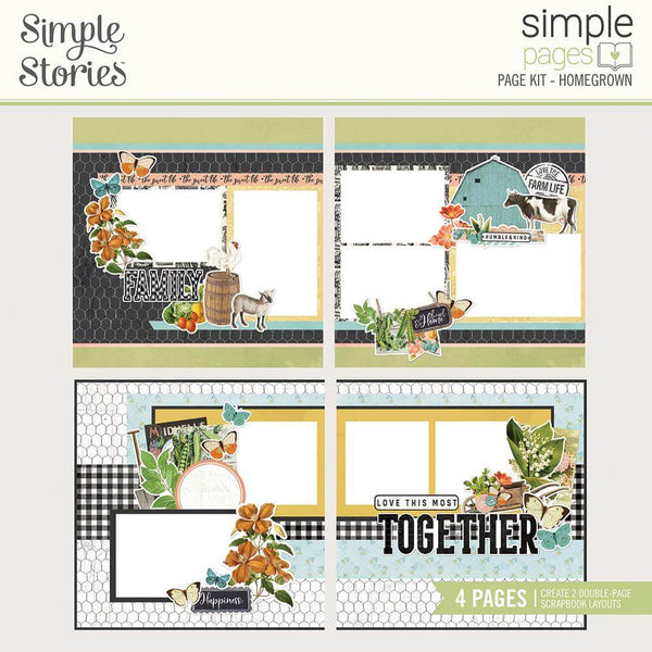 Simple Vintage Farmhouse Garden Page Kit- Homegrown