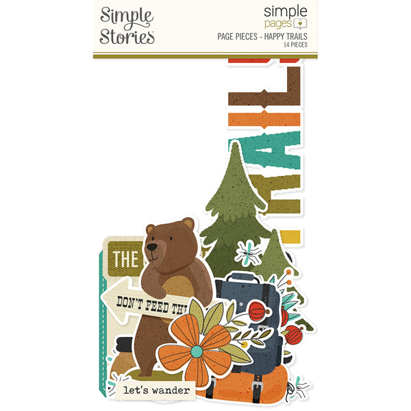 Simple Pages Page Pieces - Happy Trails